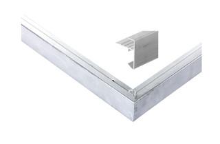 Daktrim aluminium recht t.b.v. maximale dakmaat 1250 x 600 cm