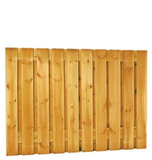 Geschaafd plankenscherm grenen 21-planks 17 mm 180 x 130 cm, verticaal recht, groen geïmpregneerd.