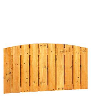 Geschaafd plankenscherm grenen 21-planks 17 mm 180 x 89 cm, verticaal toog, groen geïmpregneerd.