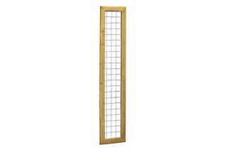 Betonijzertrellis met maas 7,5 x 7,5 cm, in grenen raamwerk 4,4 x 6,8 cm, 40 x 180 cm.