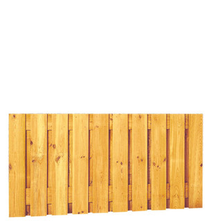 Geschaafd plankenscherm grenen 21-planks 17 mm 180 x 89 cm, verticaal recht, groen geïmpregneerd.