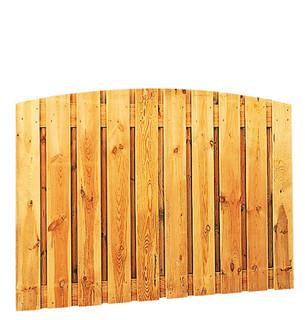 Geschaafd plankenscherm grenen 21-planks 17 mm 180 x 130/140 cm, verticaal toog, groen geïmpregneerd.