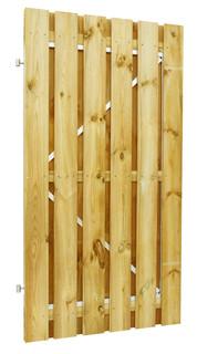 Geschaafde plankendeur grenen op verstelbaar stalen frame 100 x 190 cm, recht, groen geïmpregneerd.