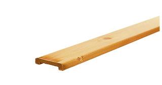 Geschaafde afdeklat grenen 1,9 x 9,6 x 235 cm, breed, t.b.v. recht en toogscherm.