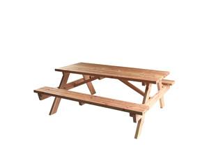 Douglas picknicktafel, bladmaat 180 x 75 cm, kleurloos geïmpregneerd.