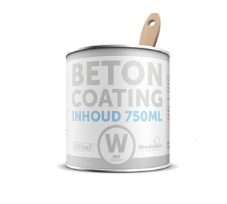 Coating betonverf 750 ml, wit RAL 9010.