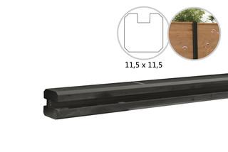 Betowood betonpaal t.b.v. schutting 11,5 x 11,5 x 277, antraciet eindpaal, gecoat