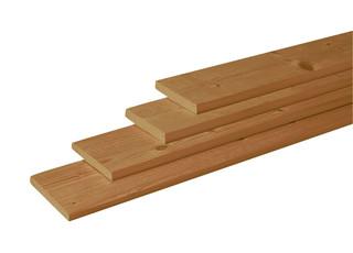 Douglas geschaafde plank 1,6 x 14 x 180 cm, groen geïmpregneerd.