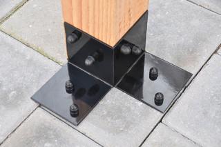 Vloerprofiel antraciet/zwart gepoedercoat, per 2 st.
