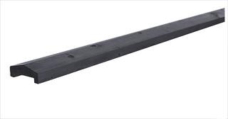 Geschaafde afdekkap 3,5 x 8,5 x 180 cm, t.b.v. rechtscherm, zwart gedompeld