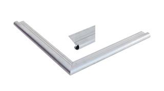 Daktrim aluminium met ronde kraal t.b.v. maximale dakmaat 1250 x 600 cm