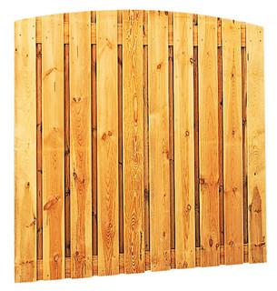 Geschaafd plankenscherm grenen 21-planks 17 mm 180 x 180 cm, verticaal toog, groen geïmpregneerd.