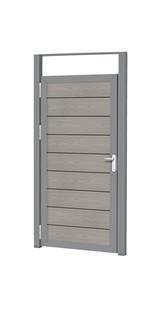 Aluminium kozijnset, 2 palen en 1 bovenregel t.b.v composiet deur.