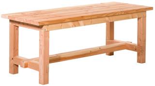 Douglas tafel Tiemen 80 x 80 x 200 cm, kleurloos geïmpregneerd.