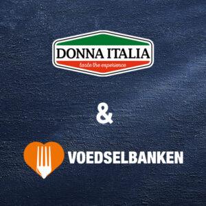 Donna Italia doneert aan Voedselbank