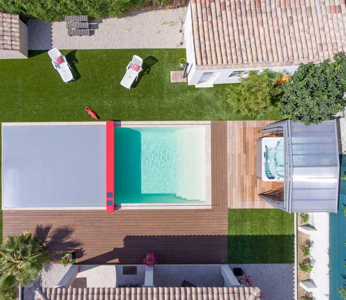 Copertura piscina calpestabile Coverseal automatica