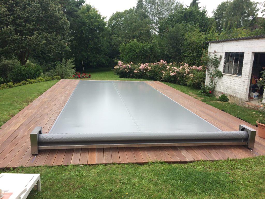 Copertura piscina calpestabile Coverseal semi-automatica