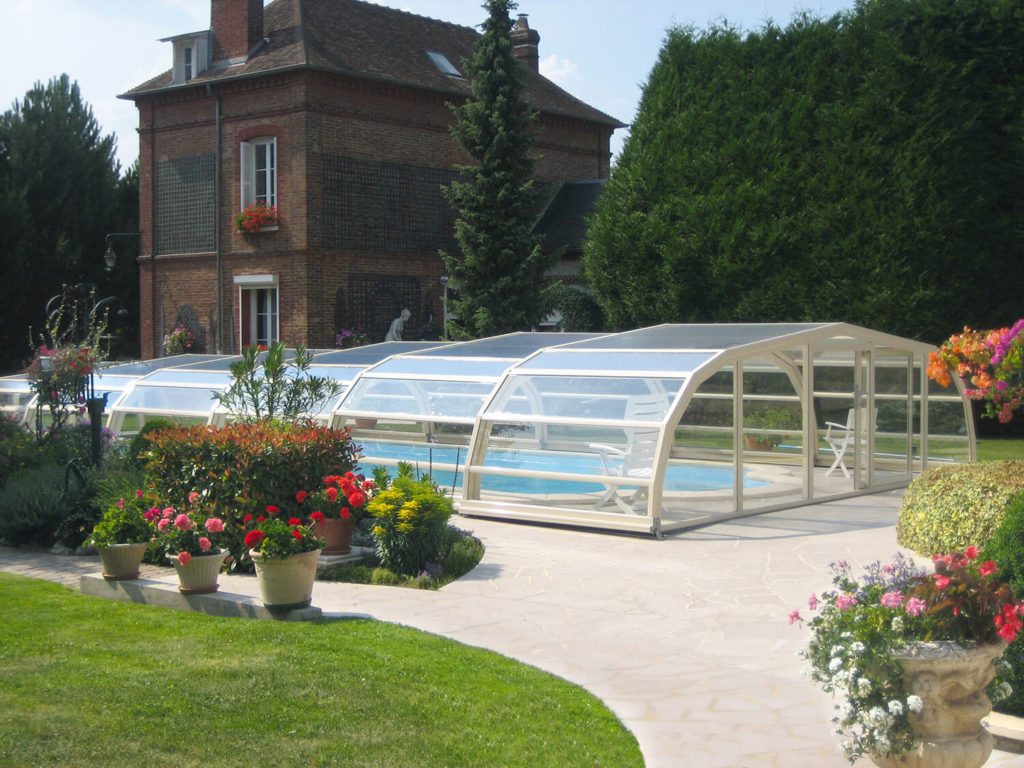 Copertura piscina semi alta alveolare