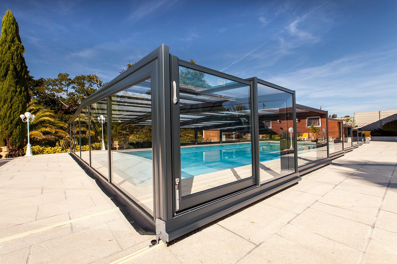 Copertura piscina semi alta Cristal