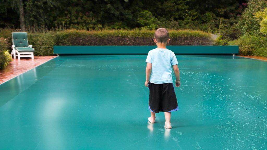 Copertura piscina sicurezza bambini