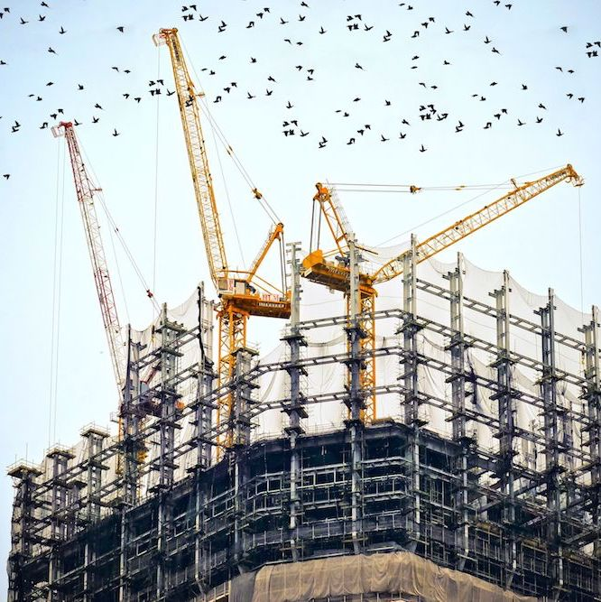 Edilizia libera: costruzione di un palazzo