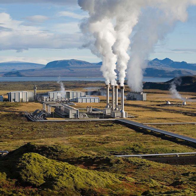 Centrale riscaldamento geotermico