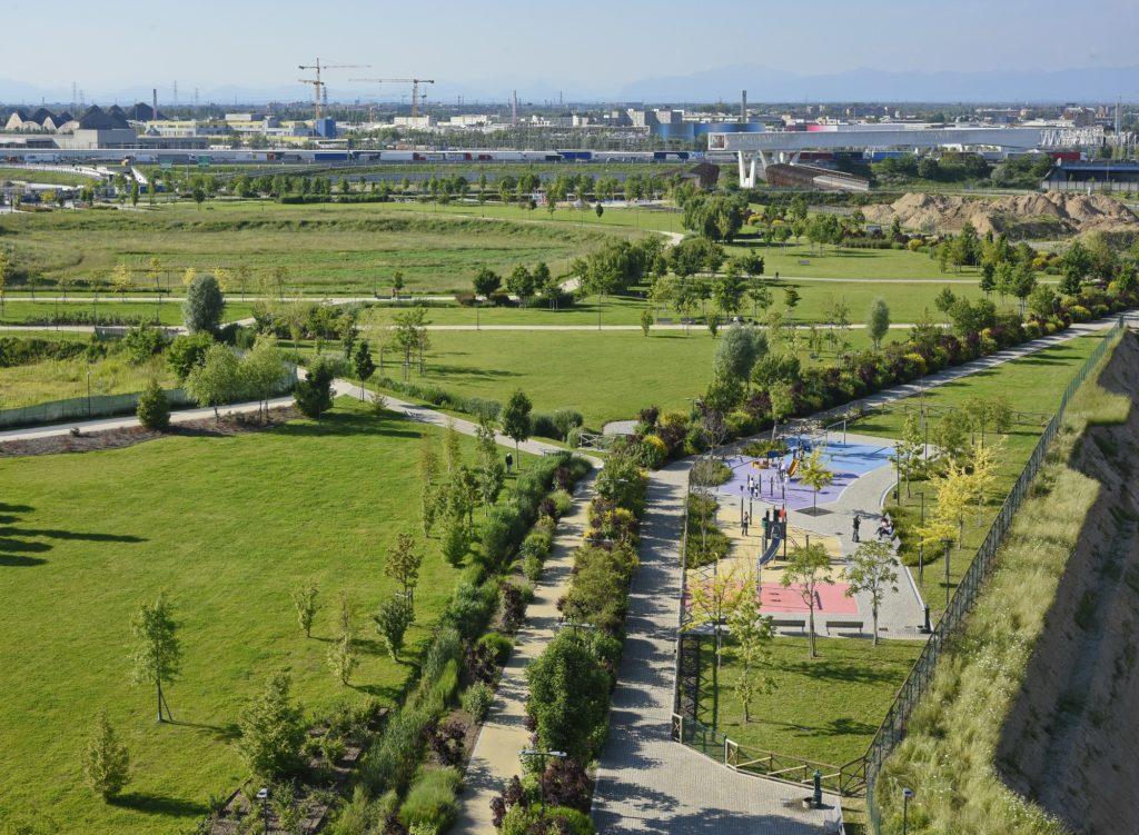 Parco di UPTOWN, quartiere sostenibile ad impatto zero