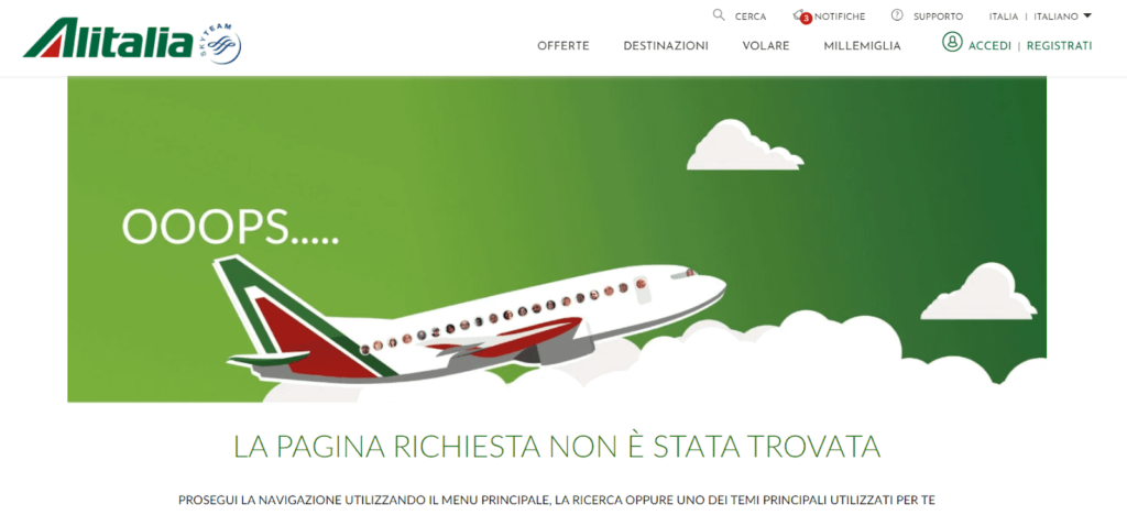 Alitalia tone of voice pagina 404