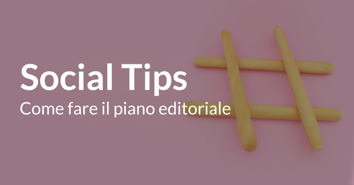 guida piano editoriale social