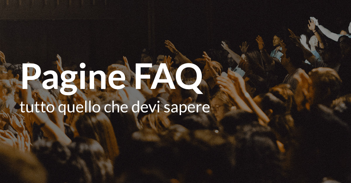 Pagine FAQ ecommerce