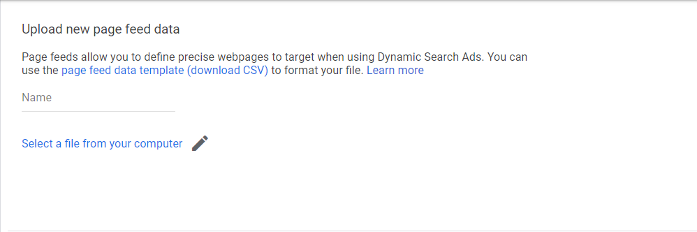 Target custom feed dynamic search ads google