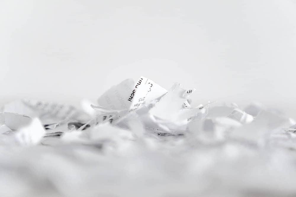 distruzione dati sensibili cartacei