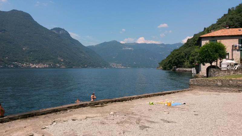 careno beach in Nesso, Lake Como, Italy