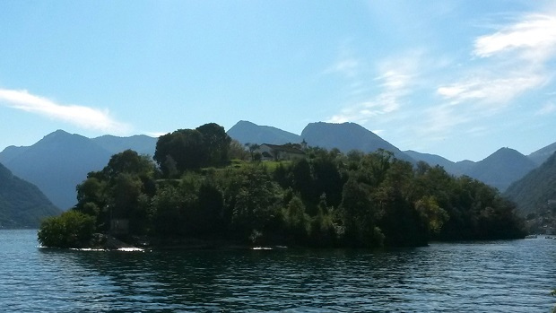 View of Isola Comacina from Ossuccio, Tremezzina