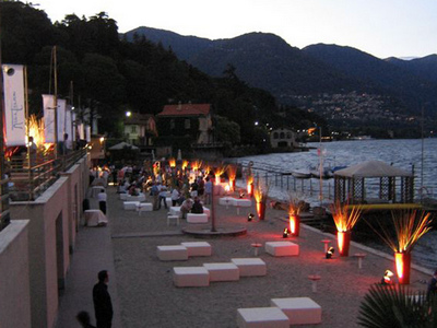 Villa Olmo beach in Como
