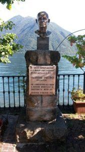 Bust of Pietro Vassena, Argegno, Italy