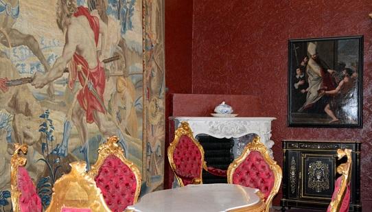 Interiors of Villa Monastero, Varenna, Italy