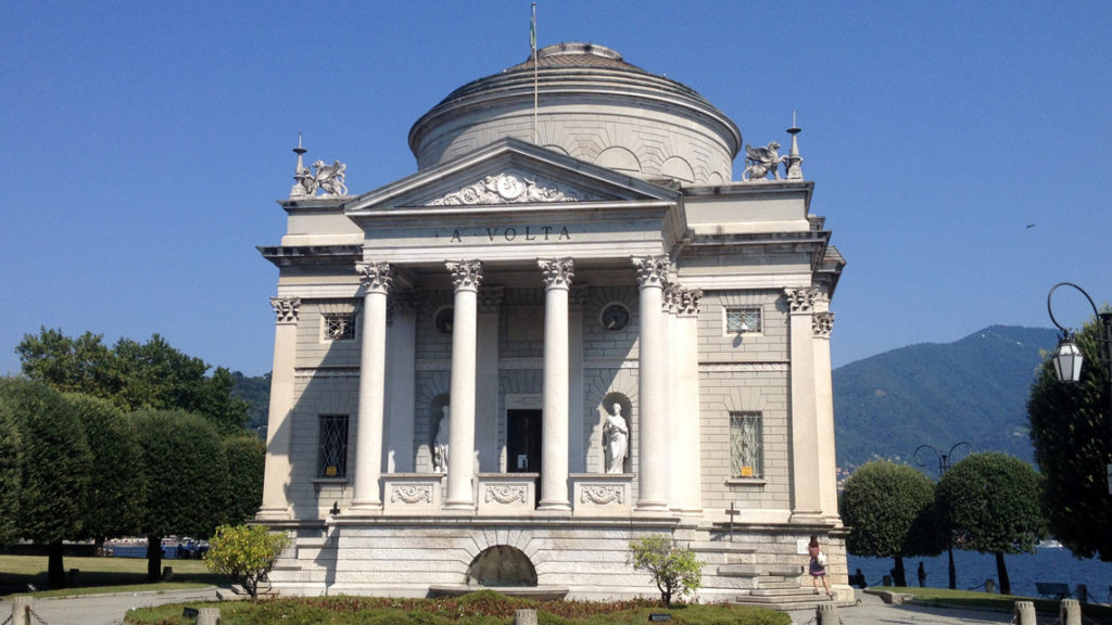Volta's museum in Como (Tempio Voltiano)