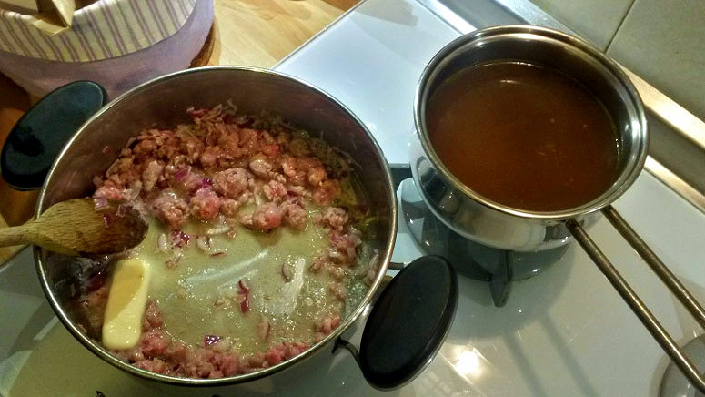 Risotto with sausage recipe