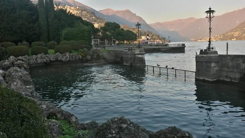 Boat landing of Villa Erba