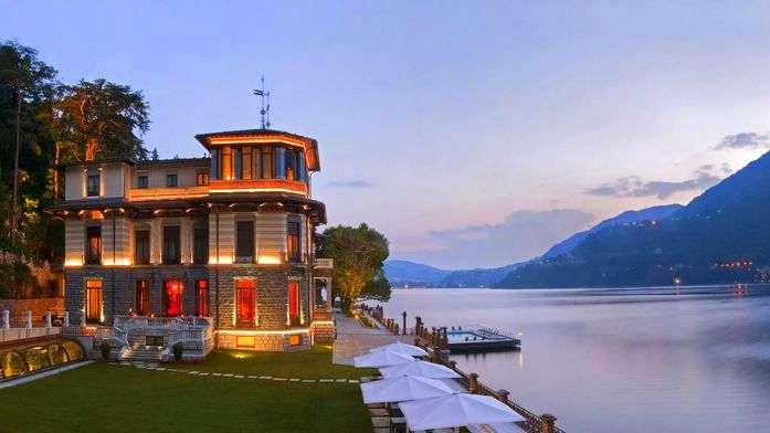 Luxury hotels on Lake Como