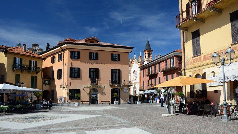 Piazza Garibaldi, in the town center of Menaggio