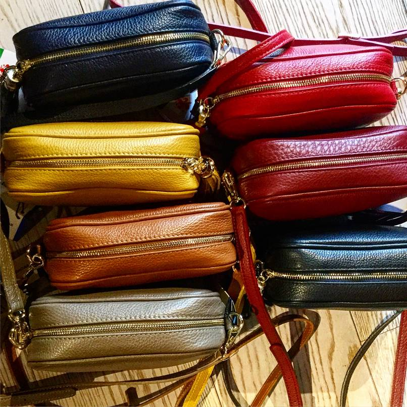 Leather clutches, €40