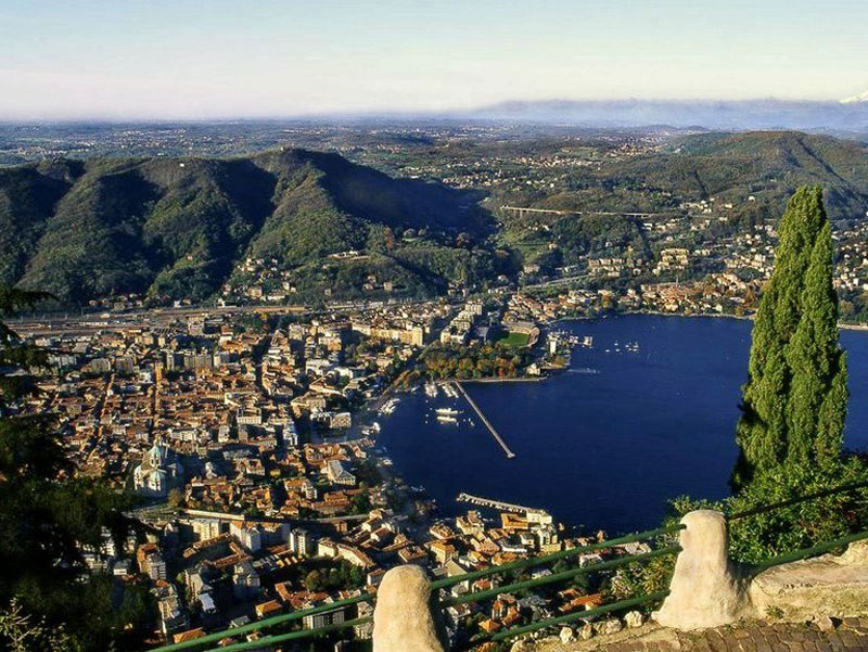 View of Como and its lake from Brunate