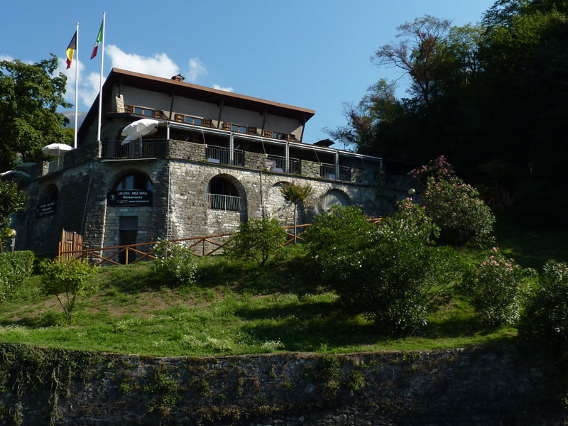 Restaurant on Isola Comacina, Lake Como