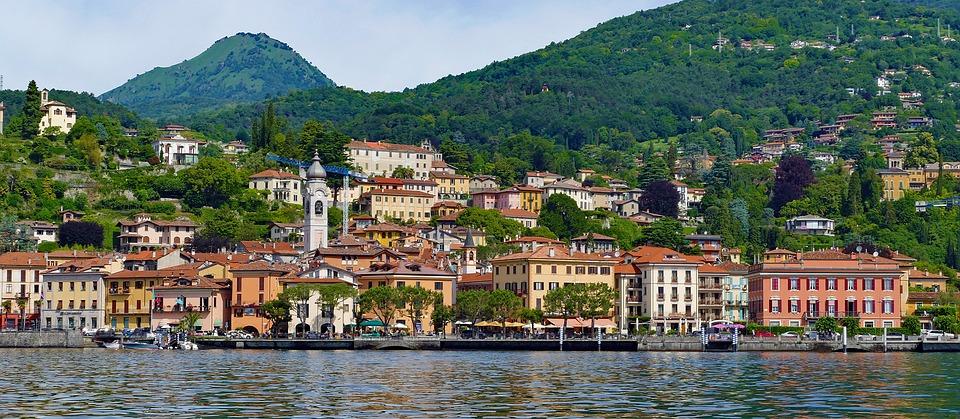 View of Menaggio from Lake Como