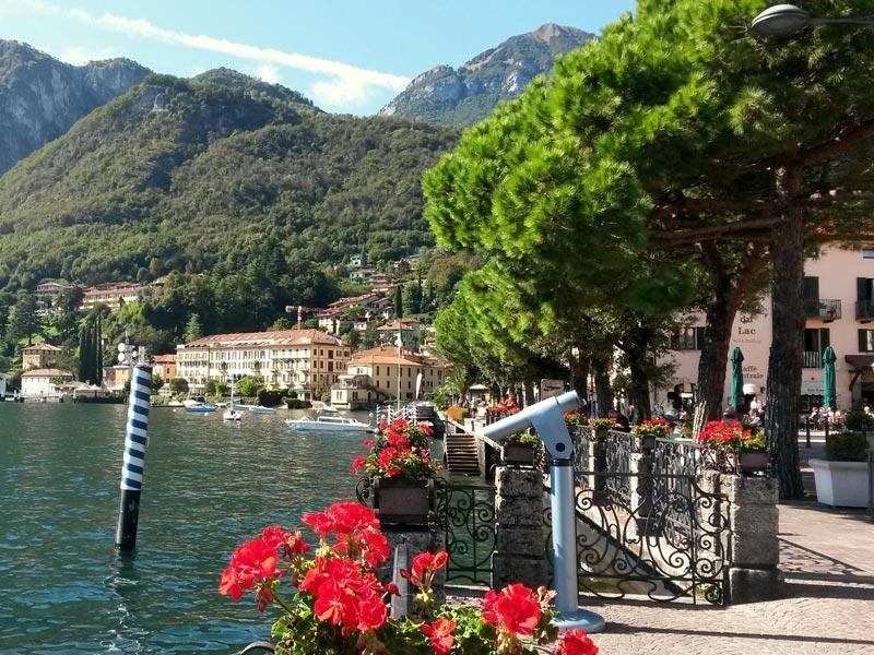 Lake promenade of Menaggio, Italy