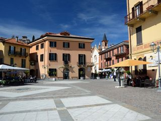The town center of Menaggio