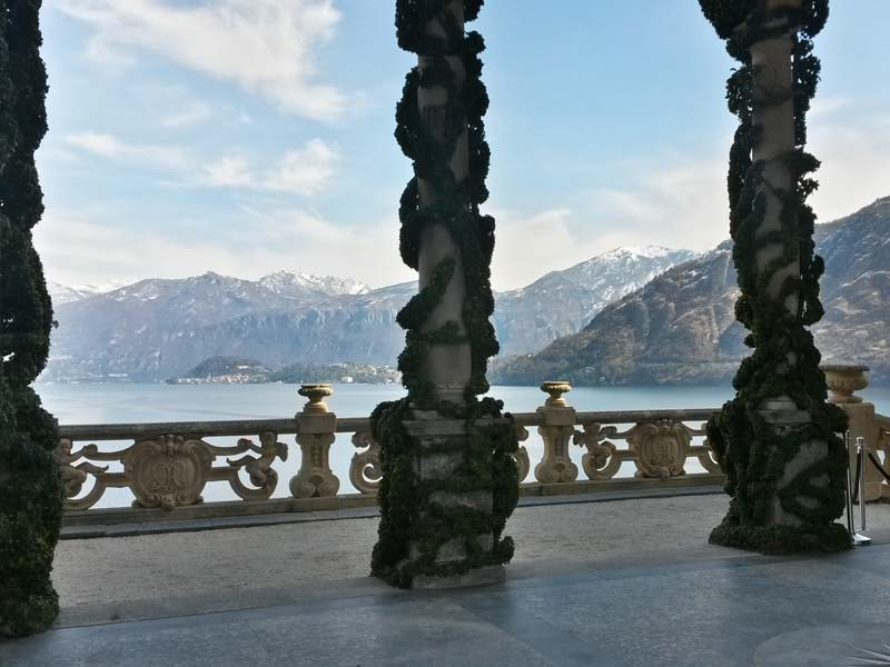 View of Bellagio from Loggia Durini, the upper part of the villa