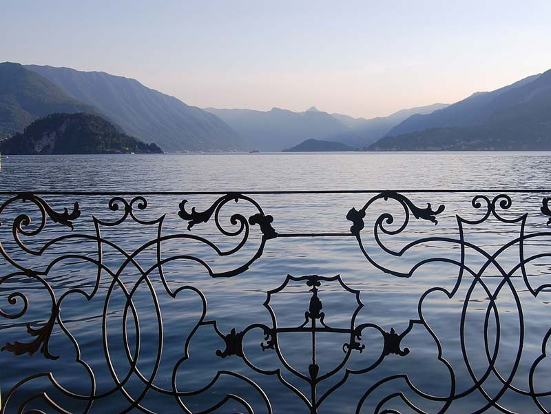 A view of the lake from the Villa